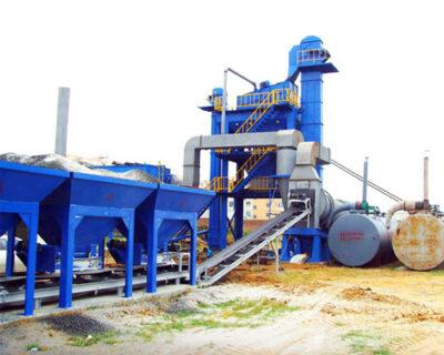 Mobile asphalt mixer plant