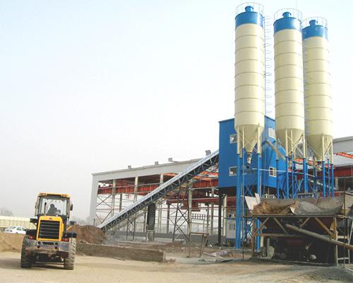 Concrete mixer plant