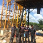 One 25m3/h Concrete Batching Plant was Installed in Thailand