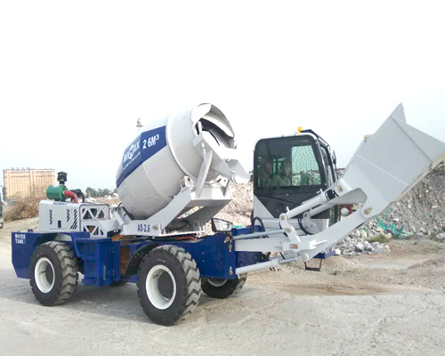 high level self loading concrete mixers