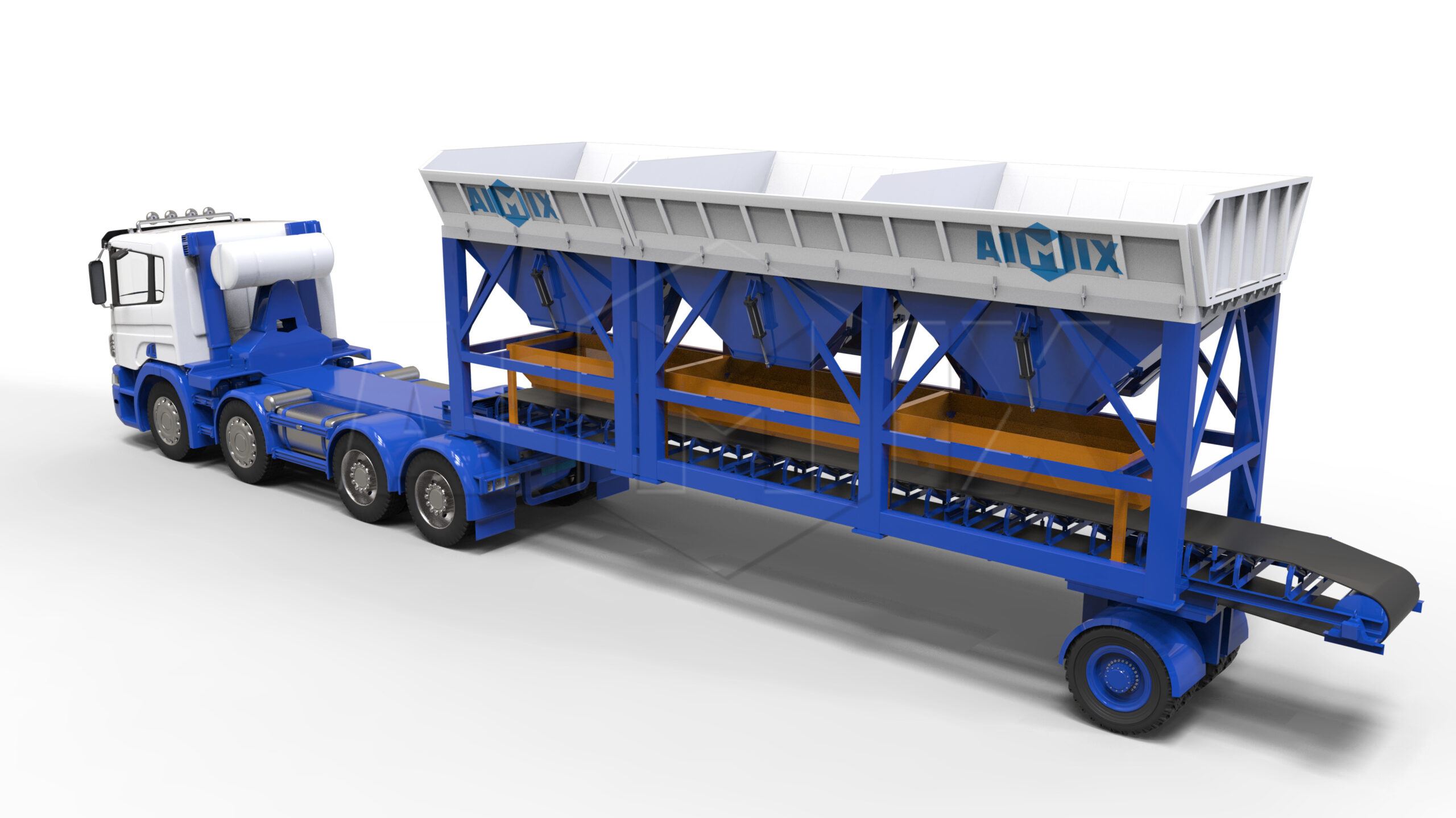 mobile concrete batch machines