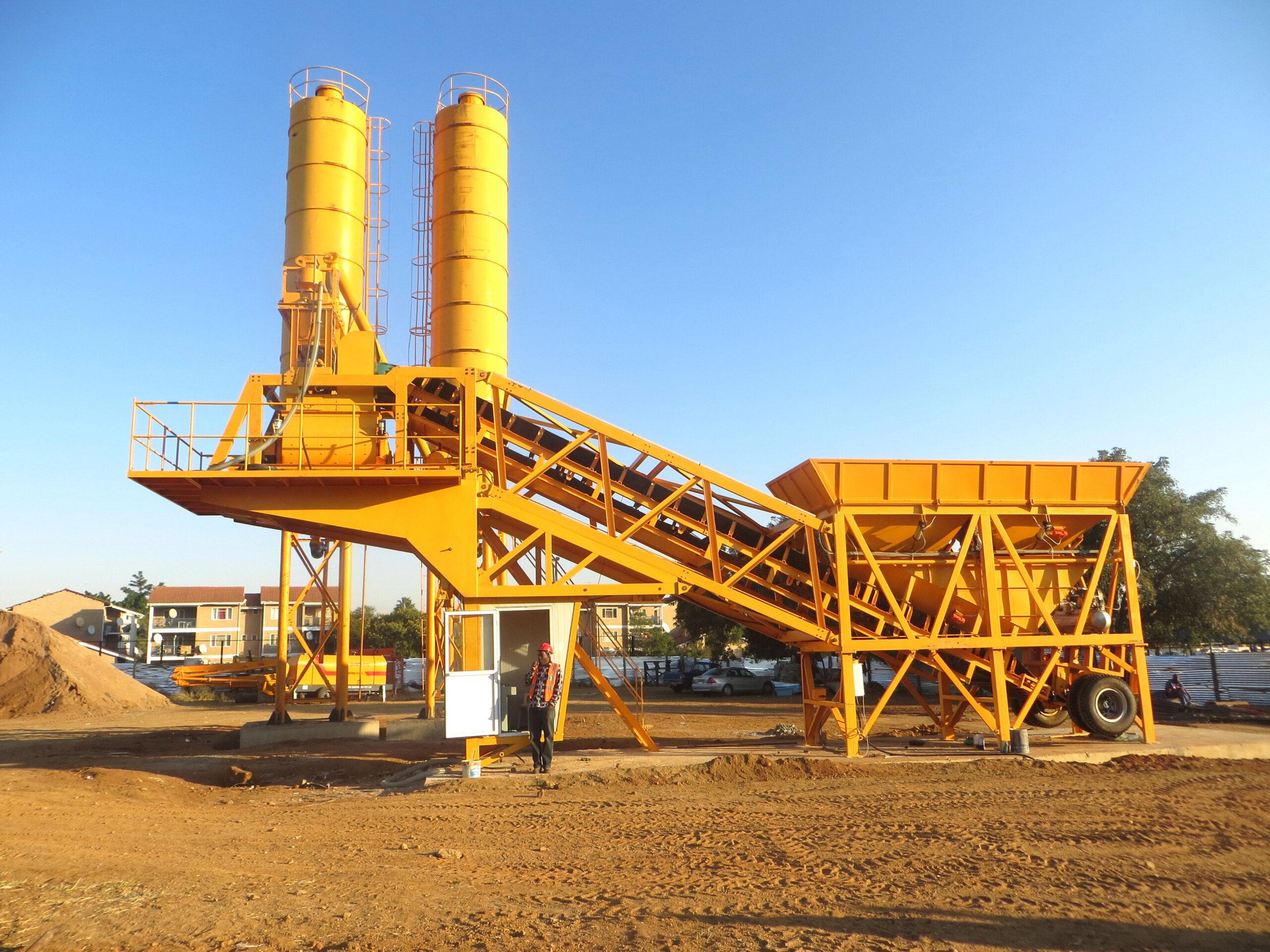 portable concrete plant equipment