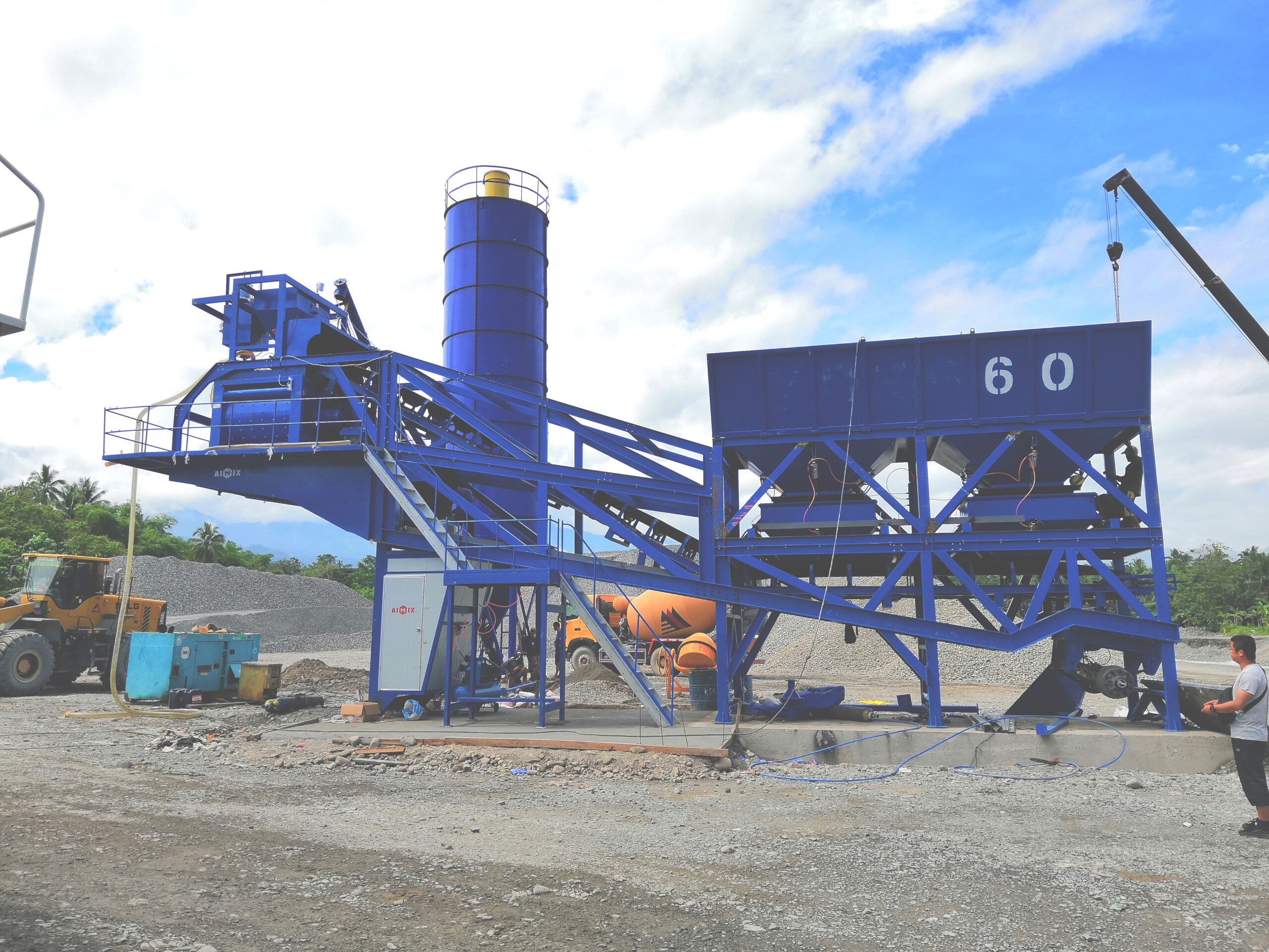 cheap mobile concrete batch plant for sale